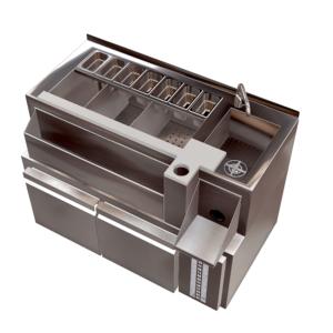 Estacion de Cocteleria individual refrigerada en acero inoxidable 0,8mm